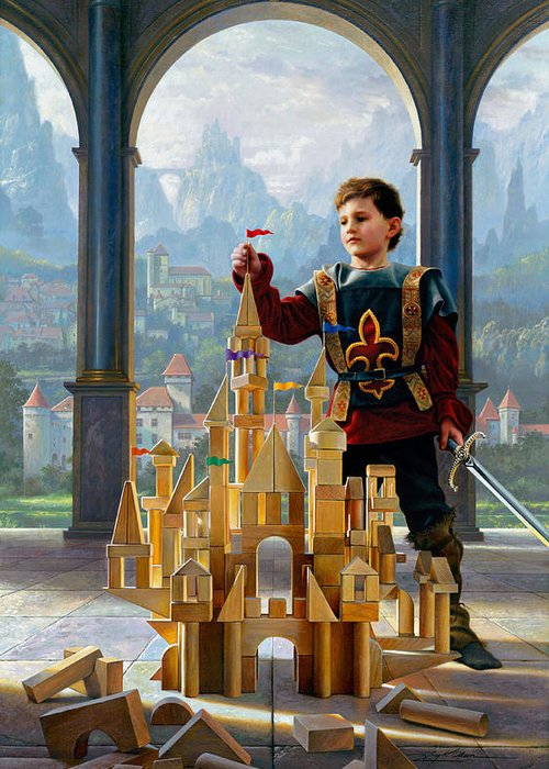 King Greeting Card featuring the painting Heir To The Kingdom by Greg Olsen