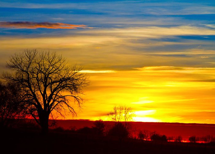 Sunrise Greeting Card featuring the photograph Here Comes The Sun by James BO Insogna
