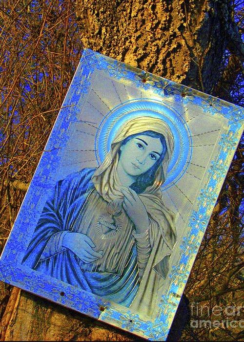 Saint Greeting Card featuring the photograph Hidden Shrine by Joe Jake Pratt