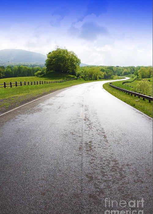 Highland Scenic Highway Greeting Card featuring the photograph Highland Scenic Highway Route 150 by Thomas R Fletcher