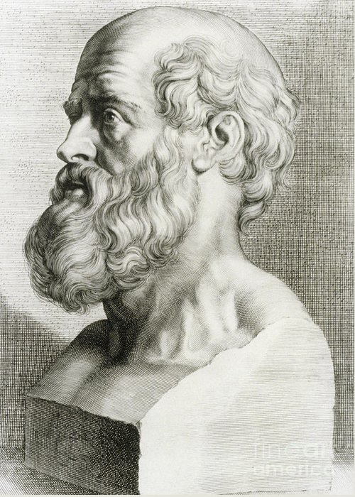 History Greeting Card featuring the photograph Hippocrates, Greek Physician by Science Source