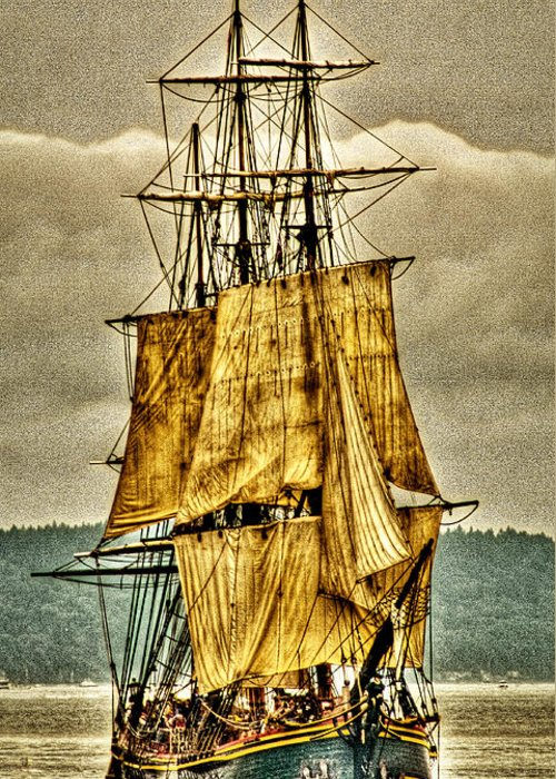 Tall Ships Greeting Card featuring the photograph Hms Bounty by David Patterson