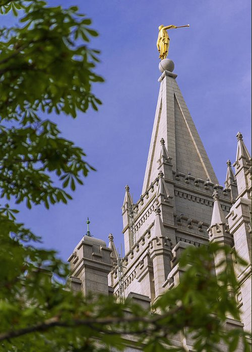 Mormon Greeting Card featuring the photograph Holy Temple by Chad Dutson