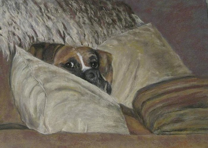 Boxers Greeting Card featuring the painting Home So Soon by Elizabeth Ellis