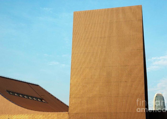 Architectural Greeting Card featuring the photograph Hong Kong by Sami Sarkis