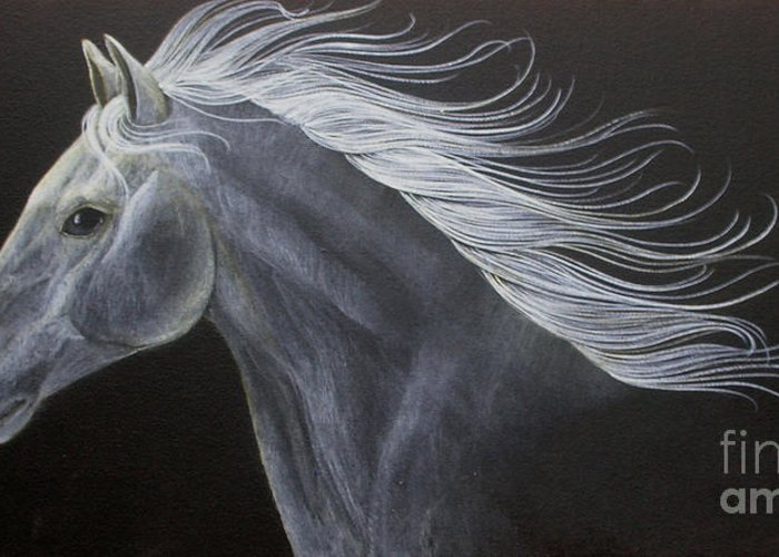 Horse Greeting Card featuring the painting Horse by Susan Clausen