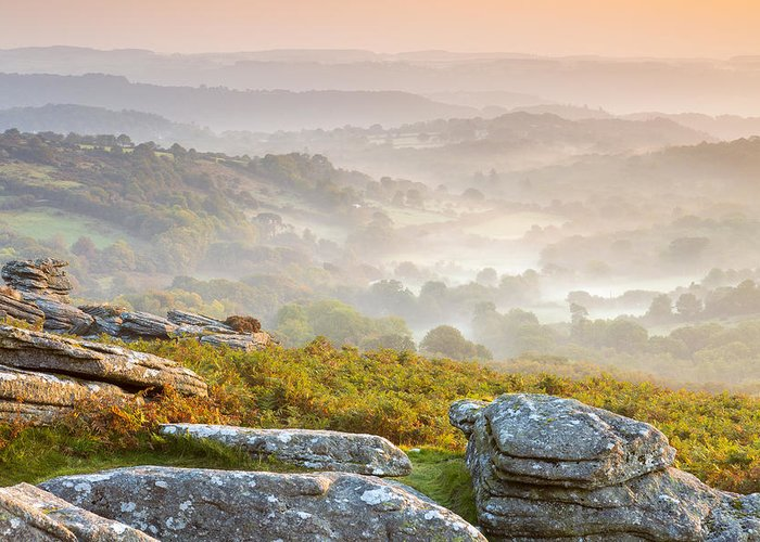 British Greeting Card featuring the photograph Hound Tor by Sebastian Wasek