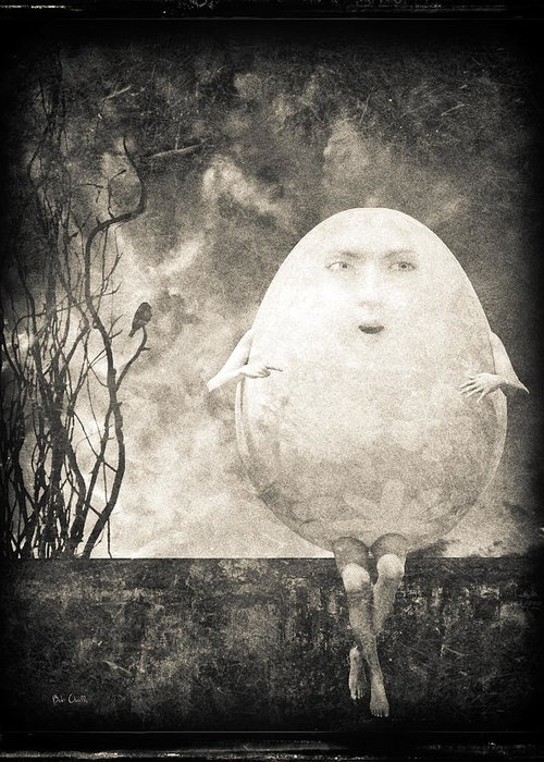 Humpty Dumpty Greeting Card featuring the photograph Humpty Dumpty by Bob Orsillo