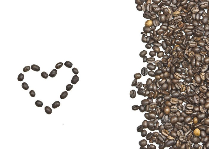 Coffee Beans Greeting Card featuring the photograph I Love Coffee by Joana Kruse