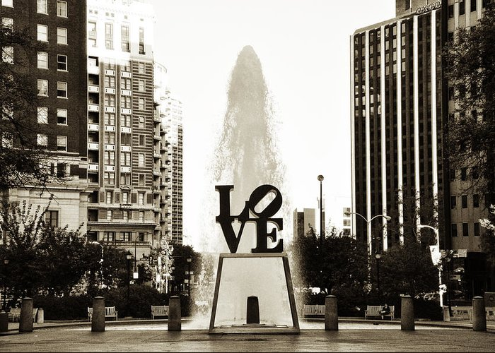 I Love Philadelphia Greeting Card featuring the photograph I Love Philadelphia by Bill Cannon