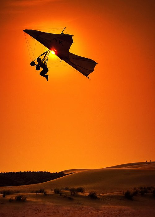 Hang Glider Greeting Card featuring the photograph Icarus by Neil Shapiro