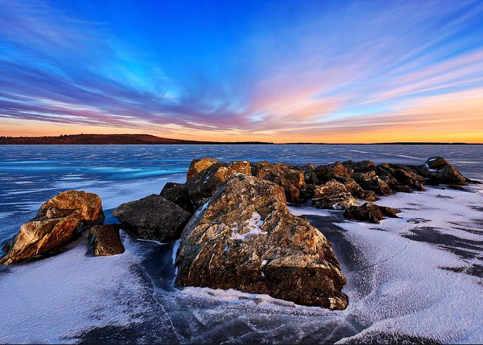 Nature Greeting Card featuring the photograph Icebound 2 by Bill Caldwell -    ABeautifulSky Photography