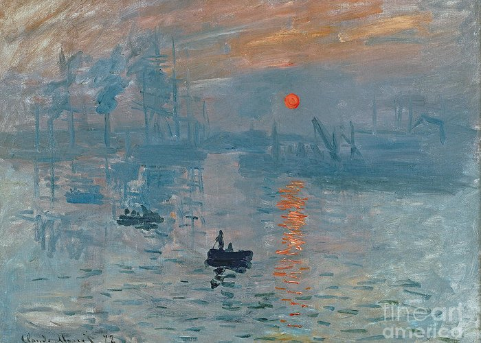 Impression Greeting Card featuring the painting Impression Sunrise by Claude Monet