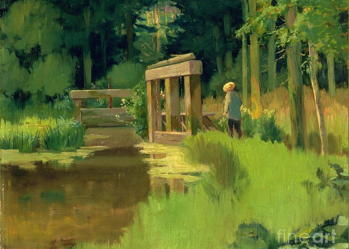 In A Park Greeting Card featuring the painting In A Park by Edouard Manet