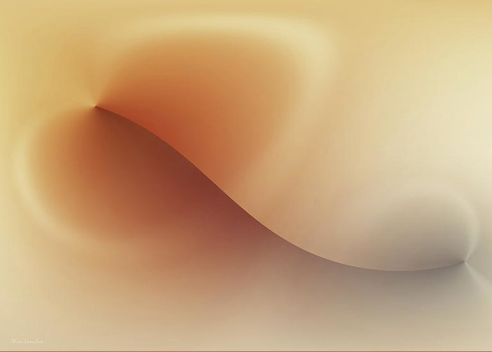 Abstract Greeting Card featuring the digital art Incision by Wim Lanclus