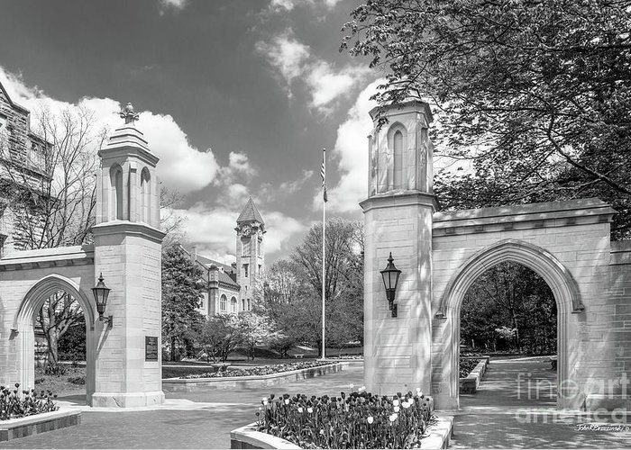 American Greeting Card featuring the photograph Indiana University Sample Gates by University Icons