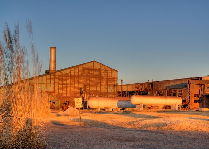 Industry Greeting Card featuring the photograph Industrial Site 1 by Douglas Barnett