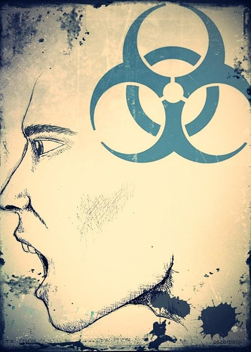 Infectious Substance Greeting Card featuring the digital art Infectious Substance by Paulo Zerbato