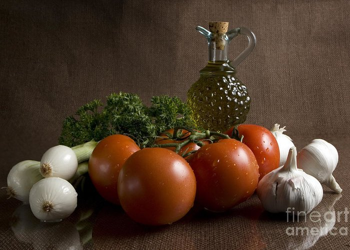 Fresh Greeting Card featuring the photograph Ingredients by Jeannie Burleson