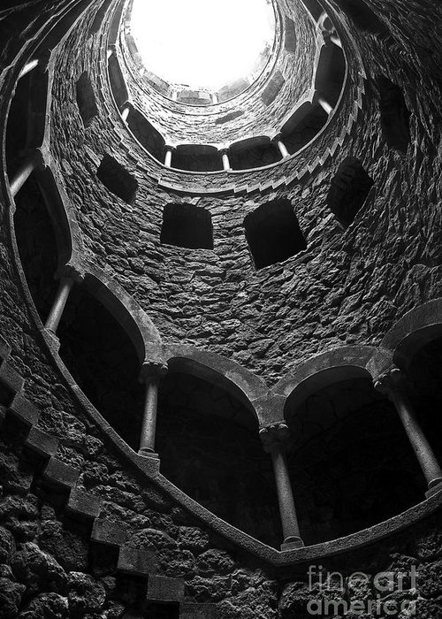 Ancient Greeting Card featuring the photograph Initiation Well by Carlos Caetano