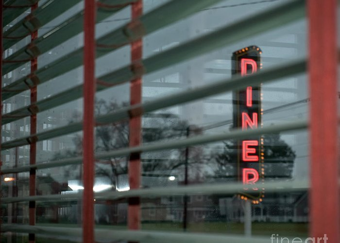 Lancaster Greeting Card featuring the photograph Inside The Diner by Kathy Jennings