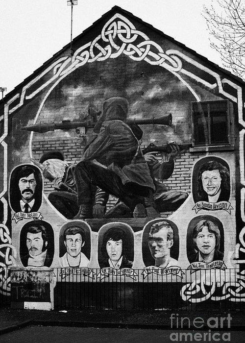 Belfast Greeting Card featuring the photograph Ira Wall Mural Belfast by Joe Fox