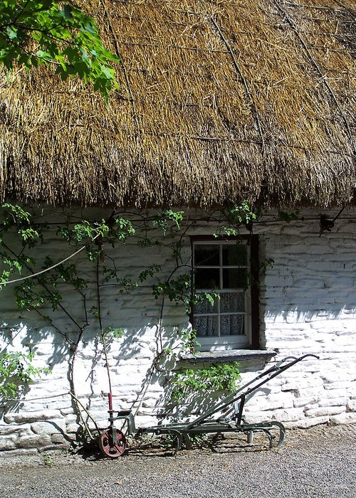 Irish Greeting Card featuring the photograph Irish Farm Cottage Window County Cork Ireland by Teresa Mucha