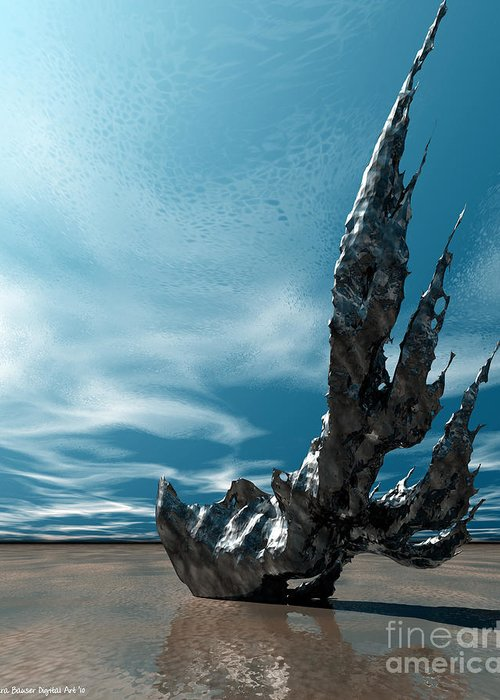 Bryce Greeting Card featuring the digital art It Fell To Earth by Sandra Bauser Digital Art