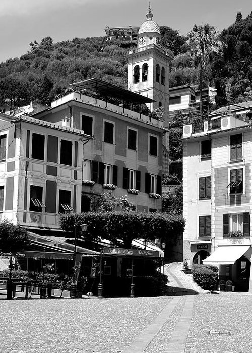 Portofino Greeting Card featuring the photograph Italian Riviera by Corinne Rhode