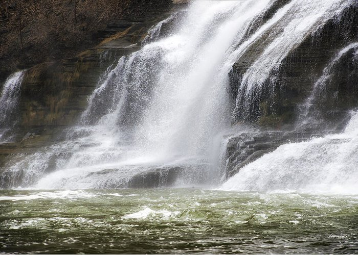 Ithaca Greeting Card featuring the photograph Ithaca Falls On Fall Creek - Mountain Showers by Christina Rollo