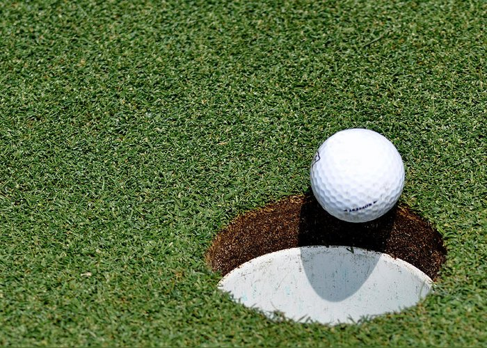Golf Greeting Card featuring the photograph It's In The Hole by Shawn Wood