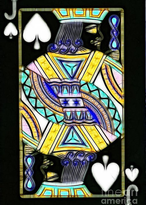 Card Greeting Card featuring the photograph Jack Of Spades - V2 by Wingsdomain Art and Photography