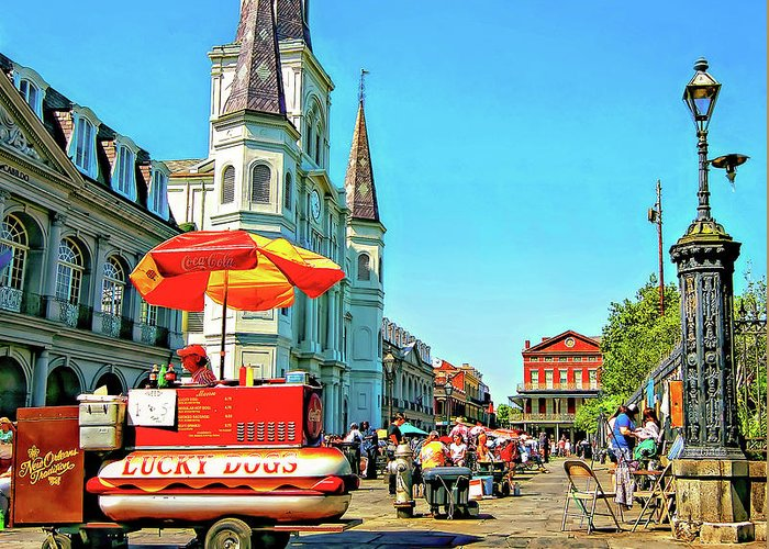 French Quarter Greeting Card featuring the photograph Jackson Square by Steve Harrington