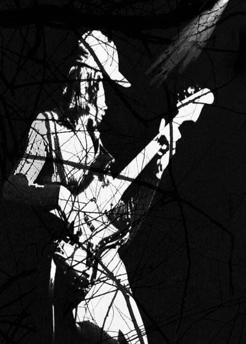 Jaco Pastorius Greeting Card featuring the digital art Jaco by Ken Walker