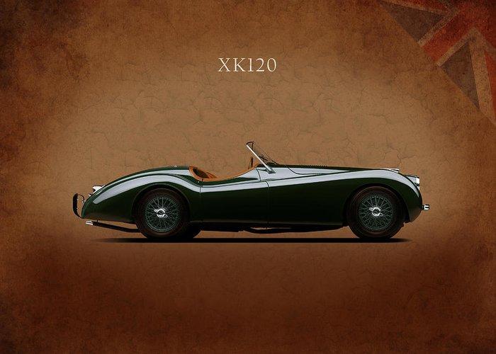 Jaguar Xk120 1949 Greeting Card featuring the photograph Jaguar Xk120 1949 by Mark Rogan
