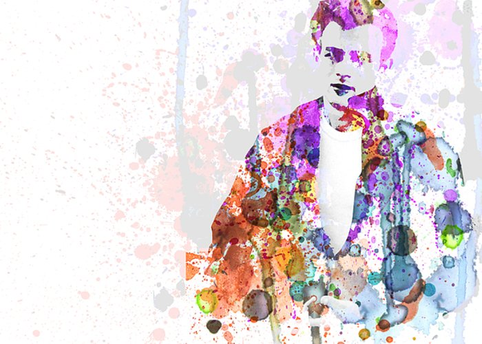 James Dean Greeting Card featuring the painting James Dean by Naxart Studio