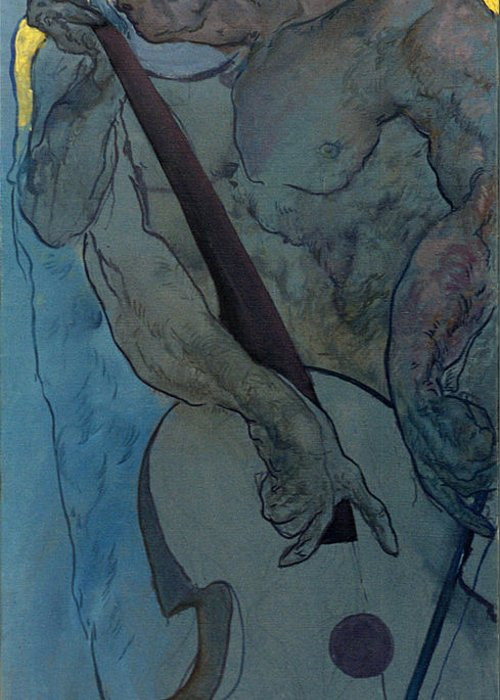 Nude Greeting Card featuring the painting Jan 2 by Valeriy Mavlo