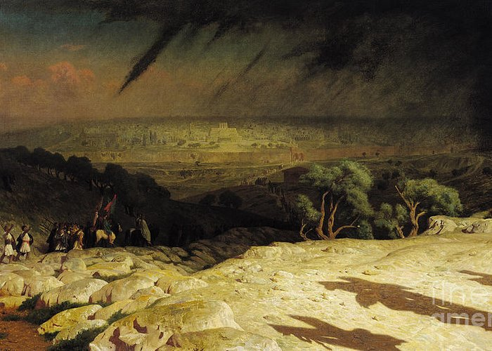 Jerusalem Greeting Card featuring the painting Jerusalem by Jean Leon Gerome