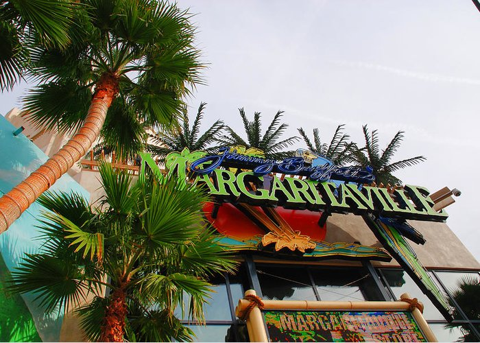 Photography Greeting Card featuring the photograph Jimmy Buffets Margaritaville In Las Vegas by Susanne Van Hulst