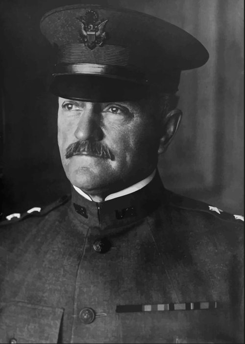General Pershing Greeting Card featuring the photograph John J. Pershing by War Is Hell Store