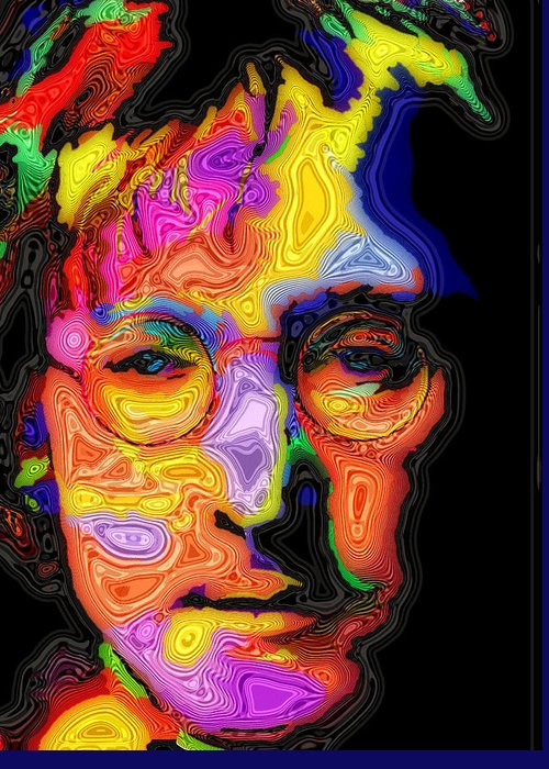 John Lennon Greeting Card featuring the painting John Lennon by Stephen Anderson