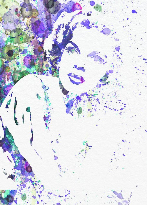 Judy Garland Greeting Card featuring the painting Judy Garland by Naxart Studio