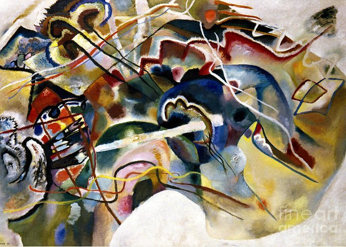 1913 Greeting Card featuring the photograph Kandinsky: White, 1913 by Granger
