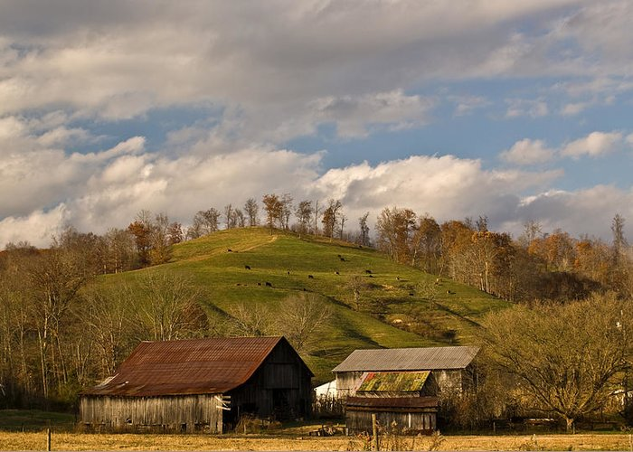 Kentucky Greeting Card featuring the photograph Kentucky Mountain Farmland by Douglas Barnett
