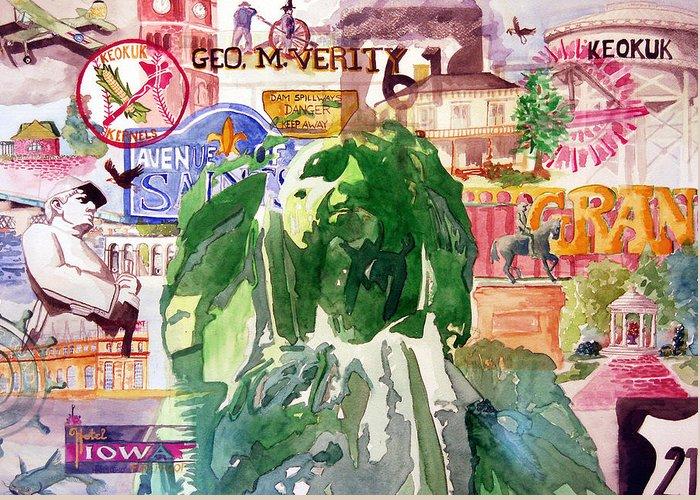 Keokuk Greeting Card featuring the painting Keokuk Legacy by Jame Hayes