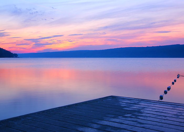 Lake Greeting Card featuring the photograph Keuka At Dawn by Steven Ainsworth
