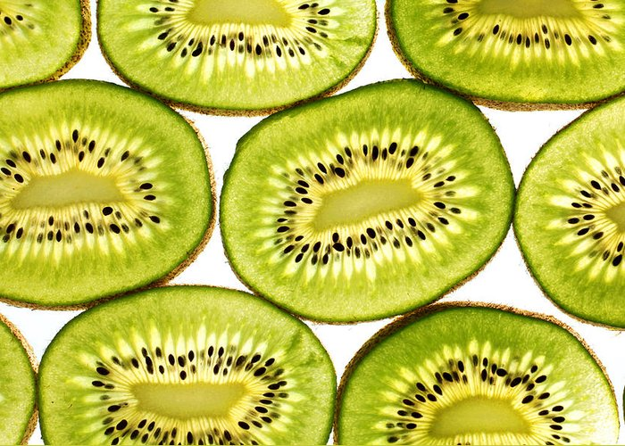 Close Greeting Card featuring the photograph Kiwi Fruit II by Paul Ge