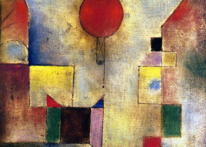 1922 Greeting Card featuring the photograph Klee: Red Balloon, 1922 by Granger