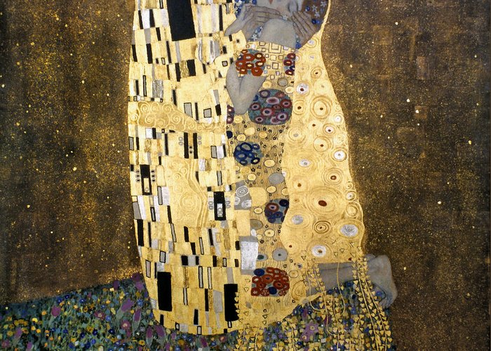 1907 Greeting Card featuring the photograph Klimt: The Kiss, 1907-08 by Granger