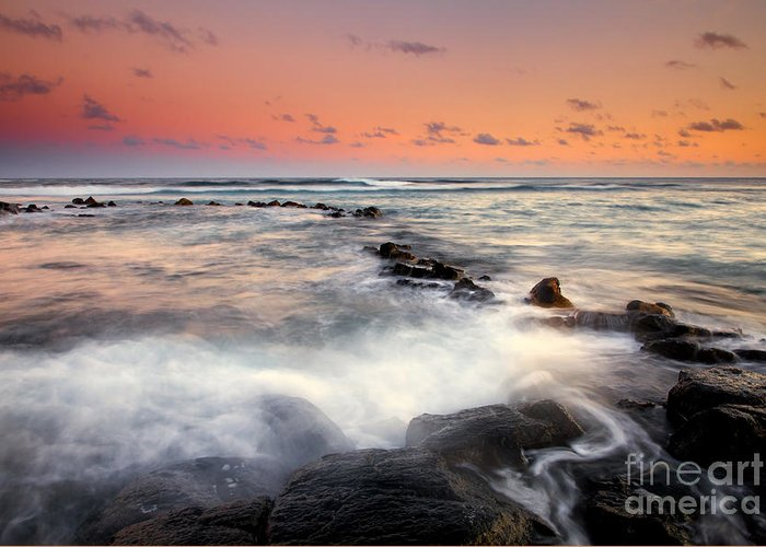 Koloa Greeting Card featuring the photograph Koloa Dusk by Mike Dawson